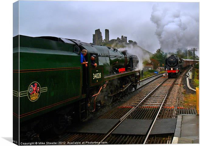 Passing at Corfe 2 Canvas print by Mike Streeter