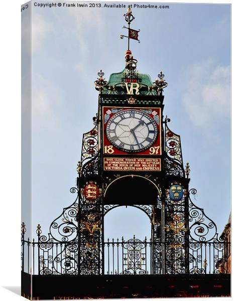Eastgate (Chester) Clock Canvas print by Frank Irwin