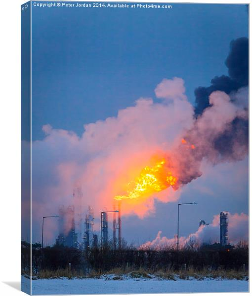 Flare Stack Canvas print by Peter Jordan
