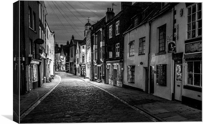 Whitby high street canvas print by jim moody