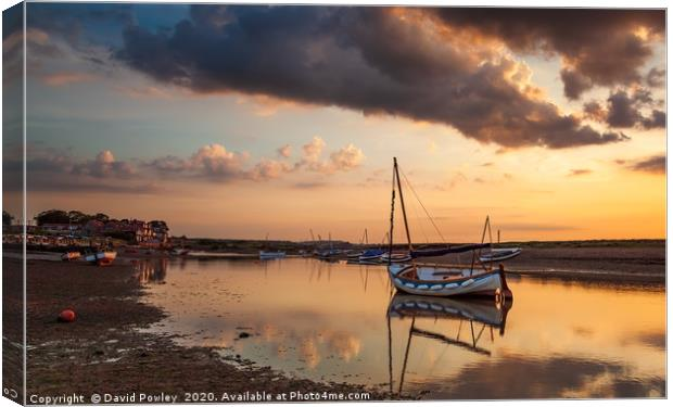 Buy canvas prints of Evening glow at Burnham Overy Staithe by David Powley