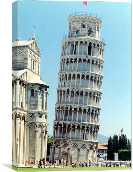 Pizza Tower Canvas Print By A Aujan