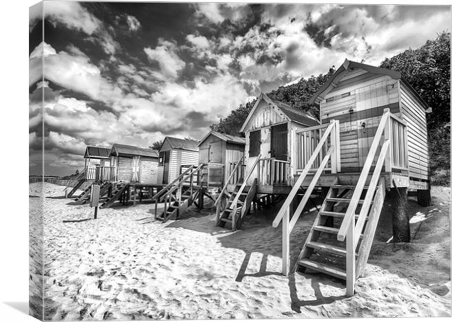 Wells next the sea beach huts canvas print by mike sherman photography