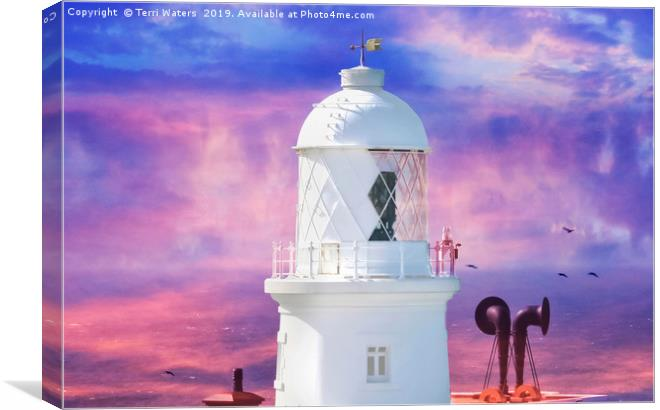 The Lighthouse Canvas print by Terri Waters