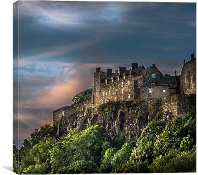 Storm Clouds Over Stirling Castle Canvas Print By Scotland