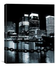 Canary Wharf & Chains, Canvas Print