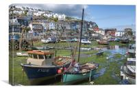 Mevagissey Harbour, Canvas Print