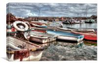 Mevagissey, outer harbor, Canvas Print