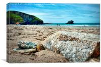 Portreath Beach, Cornwall, Canvas Print