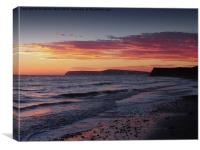 Brooke Beach Sunset, Canvas Print