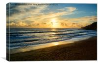 Beach Sunset., Canvas Print