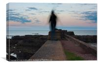 Auchmithie Ghostly Figure, Canvas Print