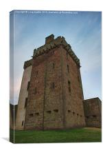 Broughty Castle Keep, Canvas Print