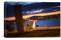 All lights point to Dundee, Canvas Print