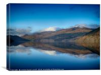 Loch Tay reflections from Kenmore, Canvas Print