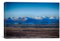 "Loch Lomond from the ""Whangie"", Canvas Print"