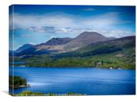 Ben Lomond & Loch Lomond view from Inchcailloch, Canvas Print
