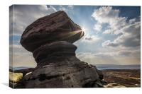Back Tor Summit, Canvas Print