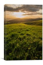 Middle Moor and Hayfield from Kinder Low, Canvas Print