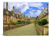 Houses in Wells, Canvas Print