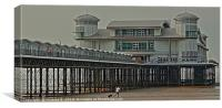 Grand Pier on a grey day, Canvas Print