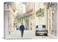 Cuban Street Life, Canvas Print