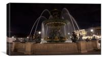 Place de la Concorde, Canvas Print