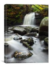 Thomasson Foss Waterfall Goathland, Canvas Print
