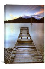 Jetty - Lake Maggiore, Italy, Canvas Print