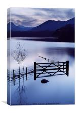Evening at Derwent Water, Canvas Print