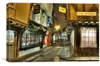 Christmas at the Shambles, York, Canvas Print