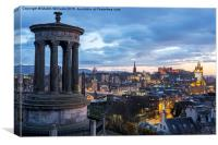 Edinburgh from Calton Hill, Canvas Print
