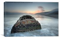 Wreck of Laura - Filey Bay - North Yorkshire, Canvas Print