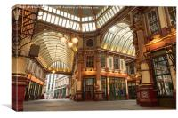 Leadenhall Market, London, Canvas Print