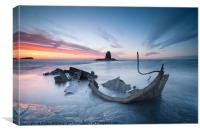 Sunset over the Admiral, Saltwick Bay, Canvas Print