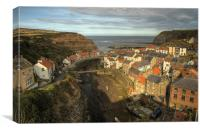 Evening Glow, Staithes, Canvas Print