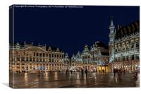 "Brussels ""Its a Grand Place"", Canvas Print"