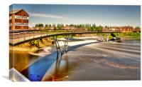 Castleford Footbridge, Canvas Print