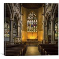 St Lawrence Church Hungerford, Canvas Print