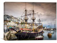 The Golden Hind, Canvas Print