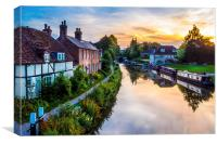 Hungerford Canal Sunset, Canvas Print
