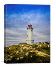 Louisbourg Lighthouse, Canvas Print