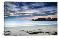 Tenby North Beach, Canvas Print