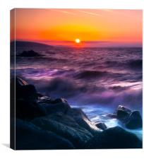 Wisemans Bridge Beach, Canvas Print
