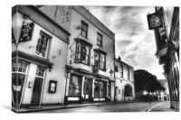 Bar 10 and Five Arches Tenby, Canvas Print