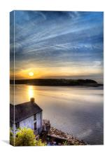 Dylan Thomas Boathouse, Canvas Print