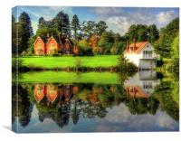Great Windsor Park Boathouse, Canvas Print