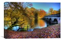 Virginia Water Lake in Autumn, Canvas Print