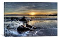 Saundersfoot Winter Sunrise, Canvas Print