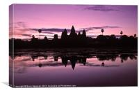 Temple Reflections, Canvas Print